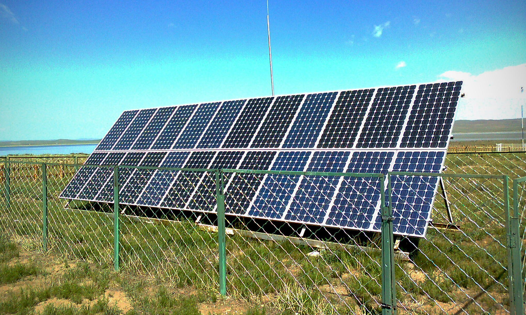 These are solar panels installed in the outdoors