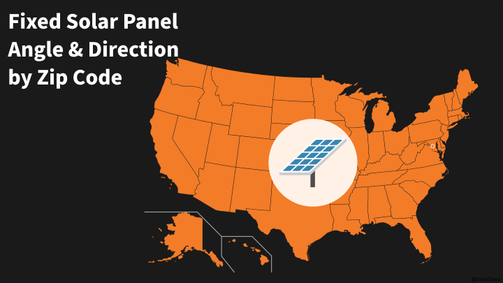 Fixed Solar Panel Angle & Direction by Zip Code