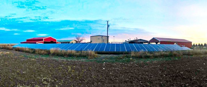 106-solar-panel ground-mount installation in Hobbs, New Mexico