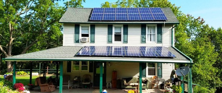 Solar installation in Bloomsburg, PA, by Green Solar Technologies