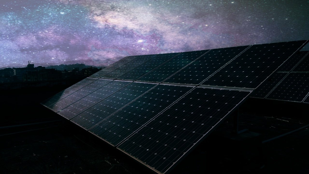 Solar panels do not work in the night since we have no sunlight.